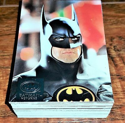 Topps 1992 Batman Returns Stadium Club Nr Set 71/100 -Bv $30 - Nmmt-Mint
