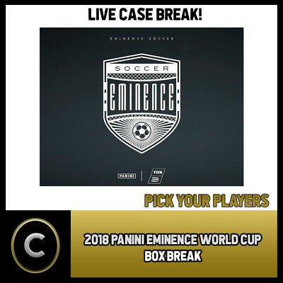 2018 Panini Eminence World Cup Soccer Box Break #S014 - Pick Your Player -