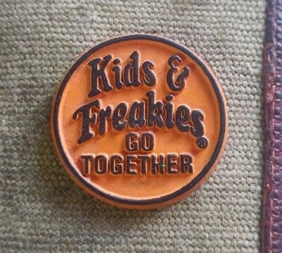 """Vintage classic Freakies Cereal """"Kids & Freakies Go Together"""" rubber magnet"""