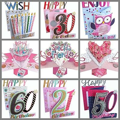 16 18 21 30 40 50 60 70 80 Birthday Cards and all Occasion Pop Up Cards & 3D