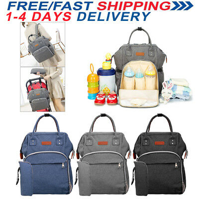 Multifunctional Baby Diaper Nappy Backpack Waterproof Large Changing Mom Bag