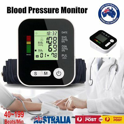 Voice Digital Automatic Blood Pressure Monitor Upper Arm Style Free Postage DP
