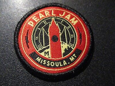 PEARL JAM Embroidered Iron-on Patch MISSOULA MONTANA 2018 Away Show