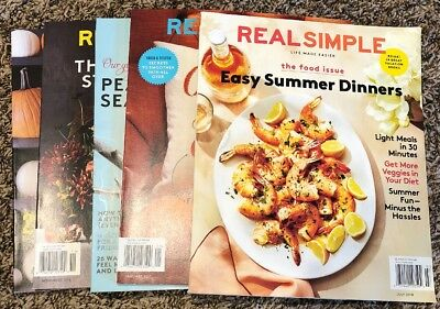 deleting on the 22nd jan / Real Simple Life Magazine Lot of 5