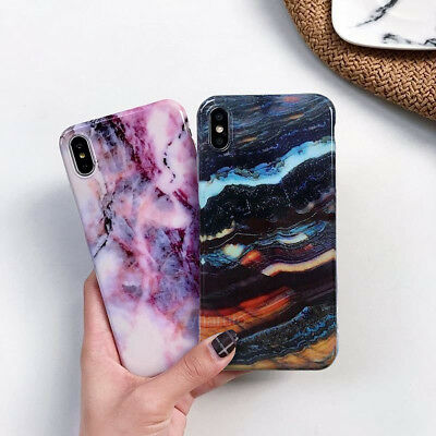 Case for iPhone XS Max XR 6 7 8 Plus Marble Shockproof Silicone Protective Cover