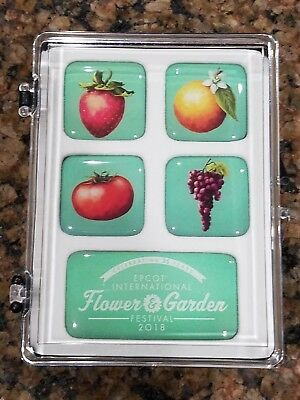 Disney Magnet Set - 2018 Epcot Flower And Garden Festival Logo Fruit NEW