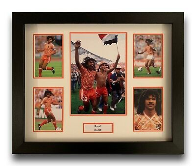 Ruud Gullit Hand Signed Framed Photo Display Holland Autograph 2.