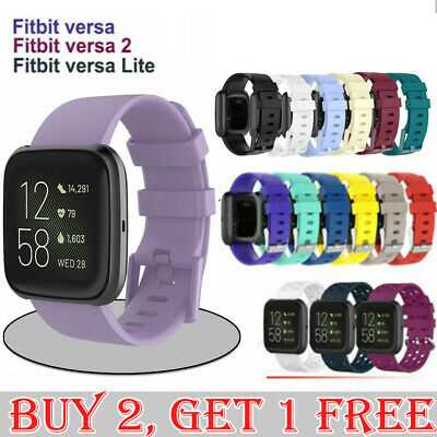 Fitbit Versa/Lite/Versa 2 Replacement Band Wristband Silicone Sports Watch Strap