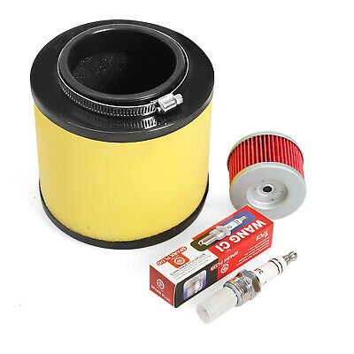 V8T4 Air Filter+Oil Filter+Spark Plug For Honda Foreman 450 TRX450S /& TRX450ES