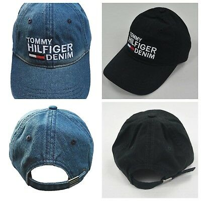 f13fa71fc98 Tommy Hilfiger Cotton Baseball Cap Mens Womens Unisex Hat One Size  Adjustable