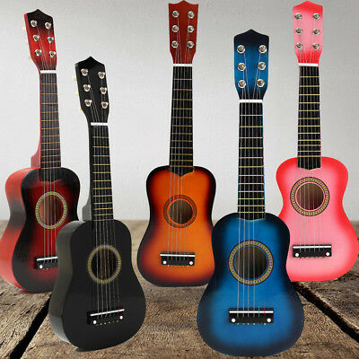 21 Inch Acoustic Guitar Portable Wooden 6 String Guitar for Child Kids Beginners