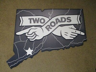 TWO ROADS BREWING ROAD 2 RUIN IPA CT METAL TACKER SIGN craft beer brewery