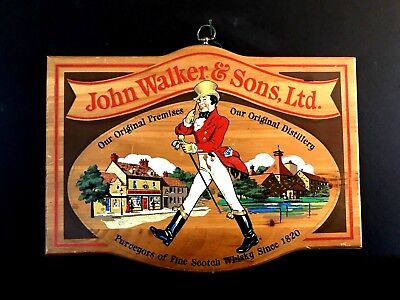 John Walker & Sons Ltd - Distillery Fine Scotch Whisky Since 1820, Wood Bar Sign