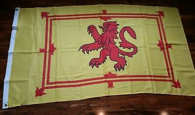 "Beautiful Scottish Flag 33""x 58"" - The Lion Rampart Of Scotland - Great Color!"