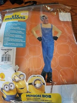 Minions Bob Child Halloween Costume Size Med 5-7