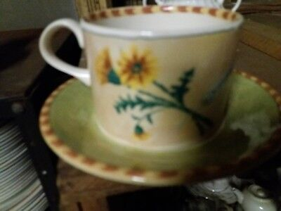 Royal Stafford ,Gardeners Journal Teacup & Saucers x 2.