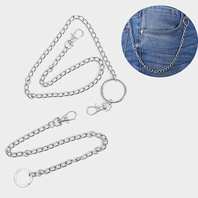 Punk  Big Ring Wallet Chain Belt Hip Hop Jewelry Key Chains Clip Pants KeyChain