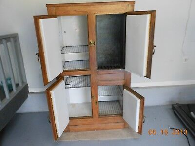 Antique Ice Box  Wood Cooler  Ice Chest