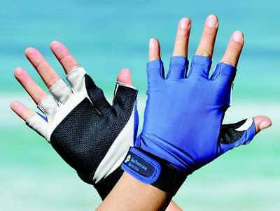 Sport Gloves UPF50+ ROYAL BLUE Sun Protection Kayaking Fishing Driving