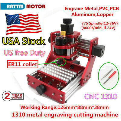 〖USA〗 1310 DIY CNC Router Metal Cutting PVC Wood Milling Engraver Laser Machine