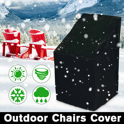 Waterproof Stacking Chair Cover Outdoor Garden Furniture Rain Snow UV Patio