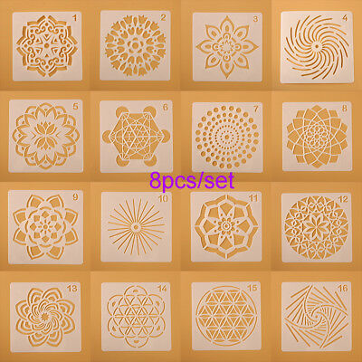 Craft Stamp Layering Stencils Scrapbooking Painting template Mandala Auxiliary