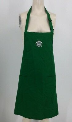Starbucks - Green Barista Apron W/pockets  One Size Fits All