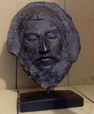 Vintage Black Paul Gauguin Death Mask Bronze Cast Resin?  Antique Face.