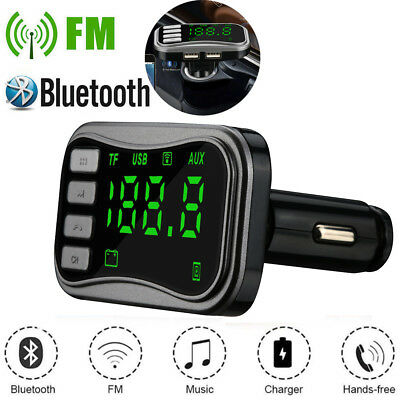 Wireless Bluetooth FM Transmitte Modulator Car Kit MP3 Player Dual USB Charger U