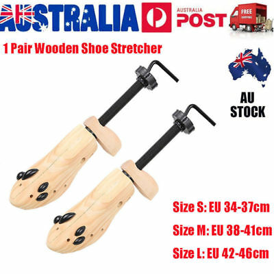 2-Way Wooden Shoes Stretcher Expander Shoe Tree Unisex Bunion Plugs AU VIC Stock