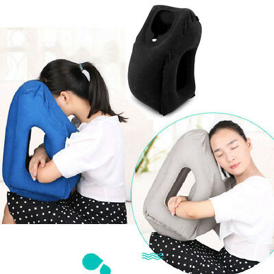 Inflatable Travel Pillow Ergonomic & Portable Head Neck Rest Pillow+Carrying Bag