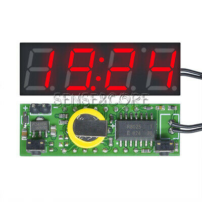 DS3231SN Digital Clock Time Thermometer Voltage Module LED Display 3 in 1