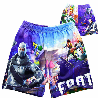 1X Boys Fortnite Short Beach Pants Micro Fiber Fortnite Swimming Short Pants K0