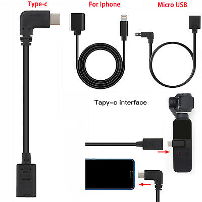 For DJI OSMO POCKET Mini Extension Cord USB Cable for Iphone/Type-c /Micro USB