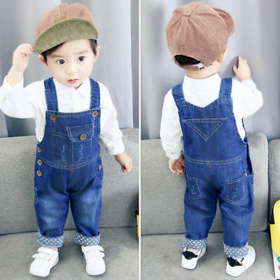 Kids Baby Boys Denim Clothes Clothing Pants Boy Bottoms Trousers Jeans Overalls