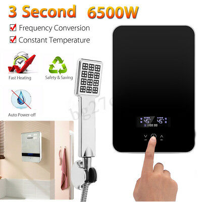 220V 6.5KW Tankless Instant Electric Hot Water Heater Boiler Bathroom 6500W