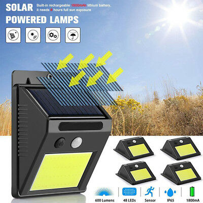 20/48 LED Solar Power PIR Motion Sensor Outdoor Garden Security Wall Lights Lamp