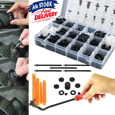 Car Body Trim Clips Fastener Kit Screws Panel Push 435pcs Retainer Bumper Rivets