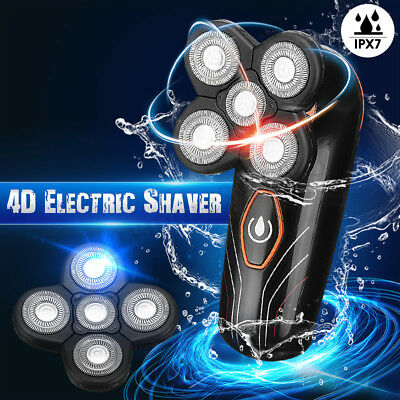 Waterproof 5 Head Floating Shaving Razor Bald Rotary Electric Shaver Trimmer