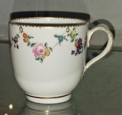 Rare 18th C Derby Chelsea 'William Duesbury' Porcelain Cup C 1770