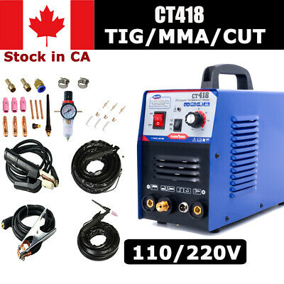 CT312 3IN1 Welding Machine TIG/MMA/Plasma Cutter Welder & PT31 Torches DIY