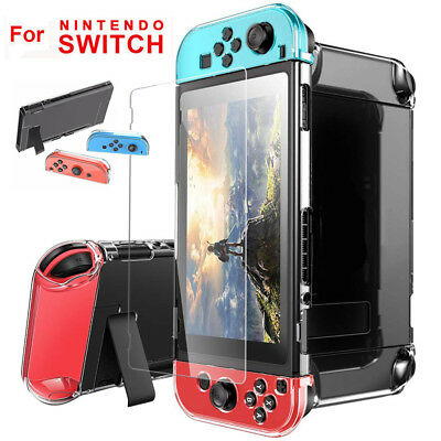 For Nintendo Switch Console Transparent Clear Shockproof Protective Case Cover