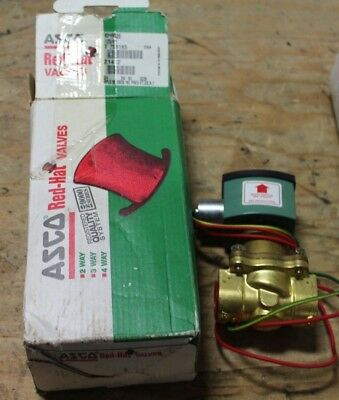 """Asco Red Hat 8210G26 120/60 Vac 3/4"""" Pipe 2-Way Solenoid Valve New"""