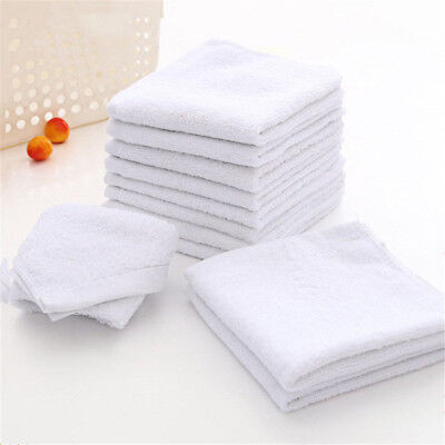 6pcs White Square Cotton Face Hand Car Cloth Towel House Cleaning NiceVN