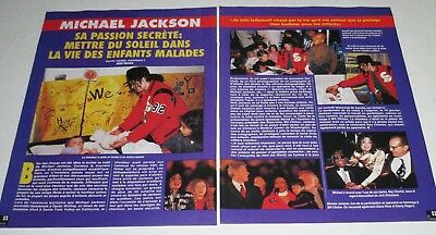 Michael Jackson French Magazine Clippings Coupure de Presse 2 pages 1993 Vintage