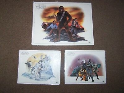 STAR WARS Placemats by The ICARUS Company, Original 1982 Lucasfilm X 3