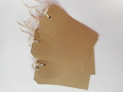 Strung brown parcel / price tags / tie on craft label / Shipping Tags 120 x 60mm