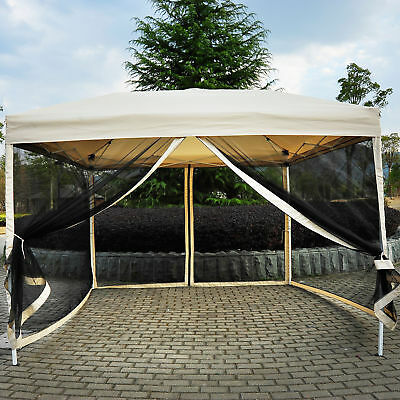 Outsunny 3 x 3m Gazebo Canopy Pop Up Tent Mesh Screen Garden Outdoor Shade Mesh