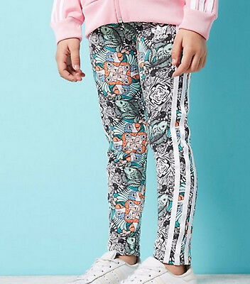 Girls Adidas Originals Zoo Leggings ages 5 - 8 kids LIMITED QTY IN STOCK