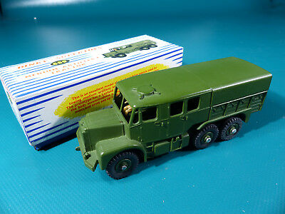 Dinky Toys Meccano 689 Medium Artillery Tractor  Blue Stripes Box   NOS MIB